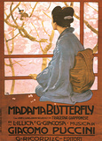 Leopoldo Metlicovitz- Vintage Madama Butterfly (Italain) Poster av Leopoldo Metlicovitz