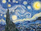 Vincent Van Gogh- Starry Night, c. 1889 Print van Vincent van Gogh