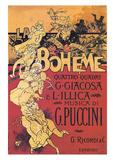 Adolpho Hohenstein- Vintage Puccini La Boheme (Italian) Posters van Adolpho Hohenstein