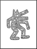 Dog, 1985 Mounted Print by Keith Haring