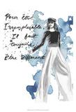 Fashion Quotes IV Print by Naomi McCavitt