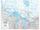 2014 Central Canada - National Geographic Atlas of the World, 10th Edition Foto von  National Geographic Maps
