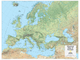 2014 Europe Physical - National Geographic Atlas of the World, 10th Edition Pôsters por  National Geographic Maps