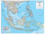 2014 Southeastern Asia - National Geographic Atlas of the World, 10th Edition Plakat af  National Geographic Maps