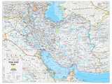 2014 Iraq and Iran - National Geographic Atlas of the World, 10th Edition Pôsters por  National Geographic Maps