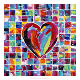 Hearts of a Different Color II Posters av Carolee Vitaletti