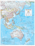 2014 Asia Pacific - National Geographic Atlas of the World, 10th Edition Posters van  National Geographic Maps