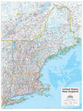2014 New England US - National Geographic Atlas of the World, 10th Edition Poster von  National Geographic Maps