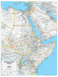 2014 Northeastern Africa - National Geographic Atlas of the World, 10th Edition Pôsters por  National Geographic Maps