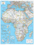2014 Africa Political - National Geographic Atlas of the World, 10th Edition Poster van  National Geographic Maps