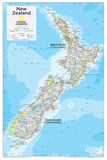 2014 New Zealand - National Geographic Atlas of the World, 10th Edition Poster van  National Geographic Maps