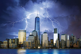 Freedom Tower- Lightning Storm Poster