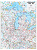 2014 Great Lakes US - National Geographic Atlas of the World, 10th Edition Posters av  National Geographic Maps