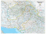 2014 Afghanistan Pakistan - National Geographic Atlas of the World, 10th Edition Kunstdrucke von  National Geographic Maps