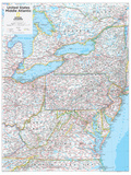 2014 Middle Atlantic US - National Geographic Atlas of the World, 10th Edition Posters av  National Geographic Maps