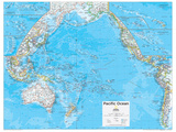 2014 Pacific Ocean Political - National Geographic Atlas of the World, 10th Edition Plakat av  National Geographic Maps