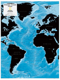 2014 Atlantic Ocean Floor - National Geographic Atlas of the World, 10th Edition Photographie par  National Geographic Maps