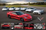 Chevrolet: Corvette- Stingray Family Kunstdrucke