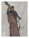 The Man Behind the Bass Kunstdrucke von Samuel Dixon