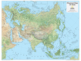 2014 Asia Physical - National Geographic Atlas of the World, 10th Edition Poster von  National Geographic Maps