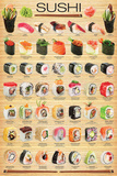 Sushi Collage Posters