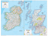 2014 Ireland and Scotland - National Geographic Atlas of the World, 10th Edition Poster von  National Geographic Maps