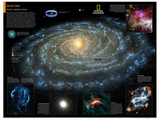 2014 Milky Way - National Geographic Atlas of the World, 10th Edition Stampe di  National Geographic Maps