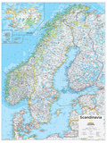 2014 Scandinavia - National Geographic Atlas of the World, 10th Edition Poster von  National Geographic Maps