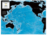 2014 Pacific Ocean Floor - National Geographic Atlas of the World, 10th Edition Kunstdrucke von  National Geographic Maps