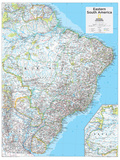 2014 Eastern South America - National Geographic Atlas of the World, 10th Edition Plakater av  National Geographic Maps