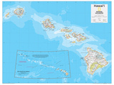2014 Hawaii - National Geographic Atlas of the World, 10th Edition Pôsters por  National Geographic Maps