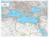 2014 Mediterranean Region - National Geographic Atlas of the World, 10th Edition Print by  National Geographic Maps