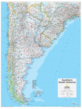 2014 Southern South America - National Geographic Atlas of the World, 10th Edition Poster av  National Geographic Maps