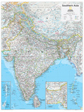 2014 Southern Asia - National Geographic Atlas of the World, 10th Edition Poster van  National Geographic Maps