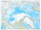 2014 Arctic Political - National Geographic Atlas of the World, 10th Edition Kunstdrucke von  National Geographic Maps