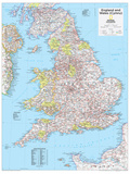 2014 England and Wales - National Geographic Atlas of the World, 10th Edition Stampe di  National Geographic Maps