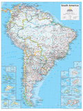 2014 South America Political - National Geographic Atlas of the World, 10th Edition Plakater af  National Geographic Maps