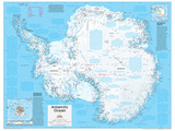 2014 Antarctica Political - National Geographic Atlas of the World, 10th Edition Prints by  National Geographic Maps