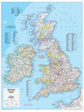2014 British Isles - National Geographic Atlas of the World, 10th Edition Posters van  National Geographic Maps