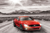 Ford- Classic 2015 Red Mustang Poster
