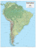 2014 South America Physical - National Geographic Atlas of the World, 10th Edition Plakater av  National Geographic Maps