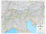 2014 The Alps Region - National Geographic Atlas of the World, 10th Edition Posters by  National Geographic Maps