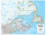 2014 Eastern Canada - National Geographic Atlas of the World, 10th Edition Plakater af  National Geographic Maps