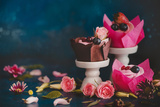 Spring Cupcakes with Roses Reproduction photographique par Dina Belenko