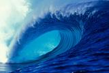 Massive Empty Breaker Ready for the Next Surfer Tahiti Photographic Print by Tony Harrington