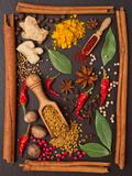 Still Life with Spices and Herbs in the Frame Fotografisk trykk av Andrii Gorulko