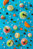 Sweet Patterns: Cupcakes and Macaroons Reproduction photographique par Dina Belenko