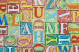 Collage Made of Colorful Alphabet Letters Fotografisk trykk av  Tuja66