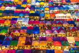 Train Night Market in Bangkok Fotografisk tryk af Emmanuel Charlat