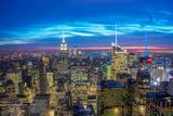 Famous Skyscrapers of New York at Night Fotografisk trykk av Elnur Amikishiyev